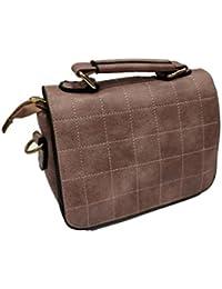 Parico Women's PU Sling Bag, Tan