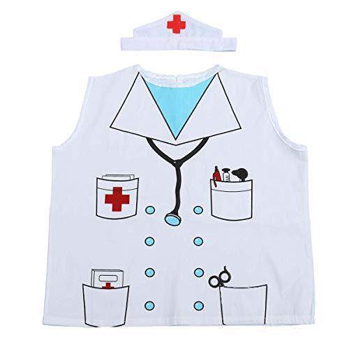 Amosfun 2 Teile/Satz Kinder Arzt Rollenspiel kostüm Set Arzt Weste und Hut Party so tun als ob Spielen Dress up Outfits für ()