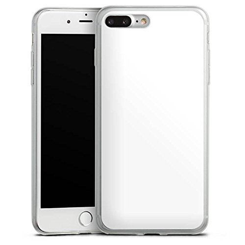 Apple iPhone 8 Slim Case Silikon Hülle Schutzhülle Weiß Weiss White Silikon Slim Case transparent
