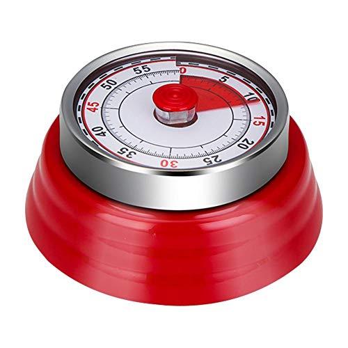 Mechanischer und Magnetisch Küchentimer, 60 Minuten Countdown Kurzzeitmesser, Analog Kurzzeitwecker für Küche/Kochen/Backen/Sport/Büro
