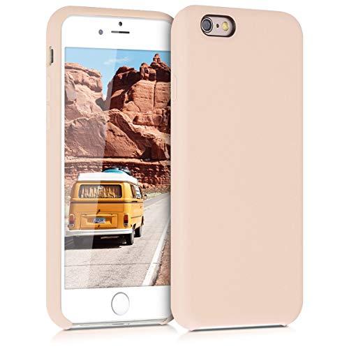 kwmobile Coque Apple iPhone 6 / 6S - Coque pour Apple iPhone 6 / 6S - Housse de téléphone en Silicone Nacre