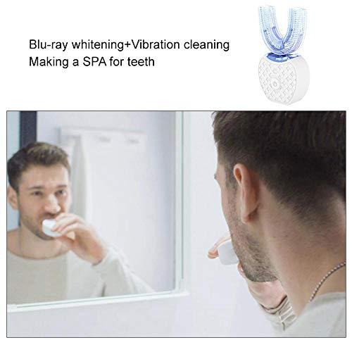 Explea U-förmige elektrische Zahnbürste, 360 ° Ultraschall-elektrische Zahnbürste für Erwachsene, kabelloses Laden -IPX7 wasserdichter intelligenter Timer -Modernisierung der modernen clever