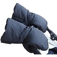 Cochecito Saco de abrigo de mano y # xFF0C; Extra grueso impermeable anticongelante de invierno guantes niños cochecito de bebé cochecito accesorios han calentador