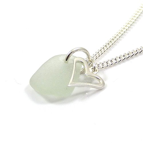 pale-blue-sea-glass-necklace-sterling-silver-heart-charm-necklace-c200-handmade
