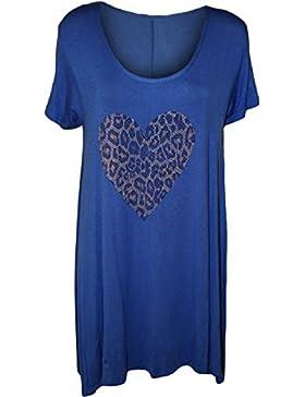 Comfiestyle - Camiseta - Animal Print - Cuello redondo - para mujer