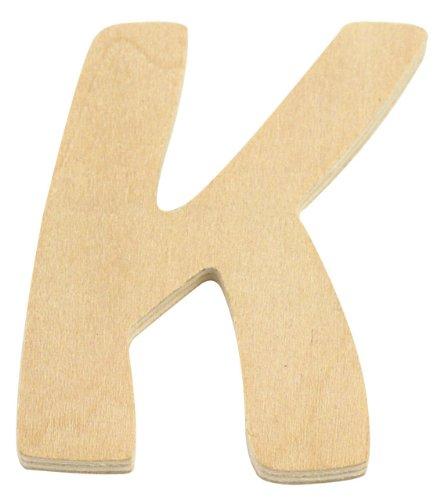 Rayher Hobby 6194000 Lettre en Bois, 6 cm, K