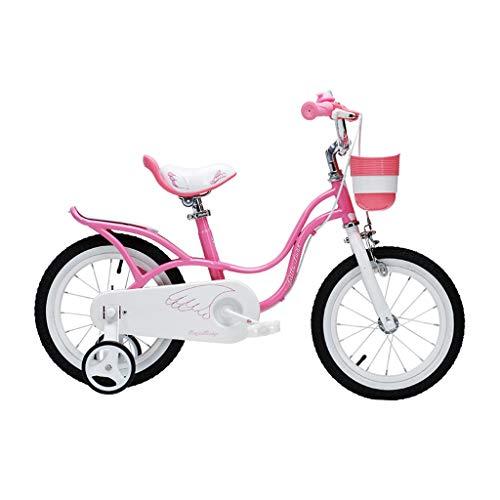 XXY Kinderfahrrad 12,14,16 Zoll Fahrrad Rosa Fahrräder Jungenfahrrad Stilvolle Mädchenfahrräder 2-4-6-8 Jahre alt Kinderfahrrad Kindergeburtstagsgeschenk (Color : PINK, Size : 16INCHES)