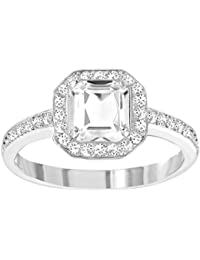 Swarovski atraer luz cuadrado anillo–5139644