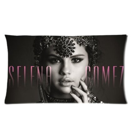 Amy Like Pillowcases Custom Cotton Polyester Soft Rectangle Pillow Case Cover 20*30 inches (Two Side) - American Movie Actor Star Music Singer Band Series Sexy Hot Popular Idol Selena Gomez Vintage Sculpt Black And White Personalized Pillowcase For Fans Design