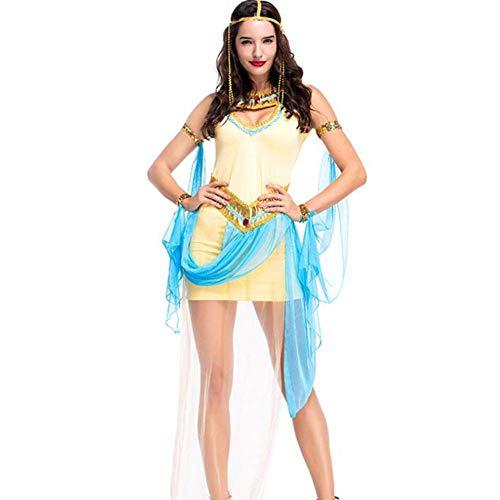 ASDF Königin von Ägypten Prinzessin Kleid Bühne Party Leistung Kostüm Cosplay Anzug