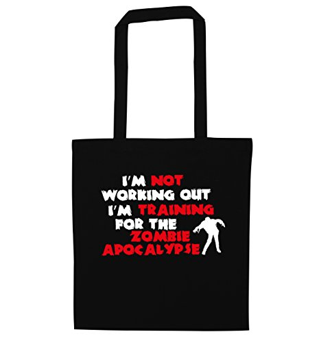 I'm not working out I'm training for the zombie apocalypse tote bag
