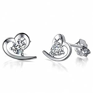 J.Vénus Damen Ohrstecker Ohrringe Set Basic 925 Sterling Silber, Ohrringe mit Etui