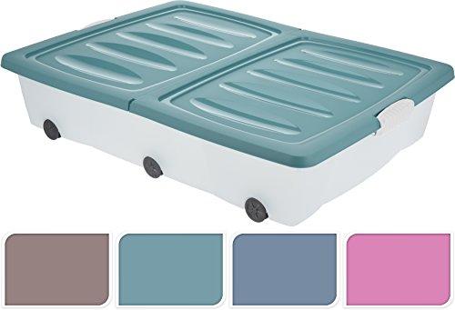 Cassetto Sotto Letto Con Ruote : 2 x grandi contenitori in plastica con le ruote da collocare sotto