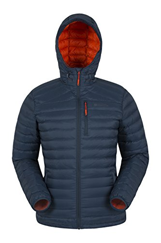 Mountain Warehouse Henry Herren Gefütterte Daunenjacke Leicht Warm Isoliert Perfekt für Winter Petrolblau X-Large