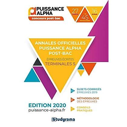 Annales officielles Puissance Alpha : Concours post-bac