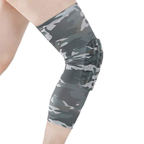A1-Brave kniebandage Camo Knieschützer Schutzhülle for Basketball-Lauf Wandern Hohe Elastizität Atmungsaktiv Knieschützer Beinwärmer 1 PCS (Color : 1pc, Size : L)