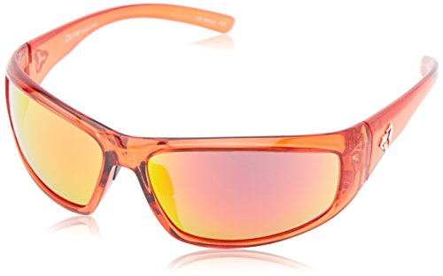 Ryders Dune rxglrf Wrap Sonnenbrille, Rot, Dune Red Xtal/grey Lens Red Fm