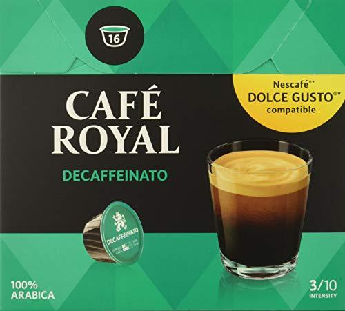 Café Royal Decaffeinato 48 cápsulas compatibles con Nescafé* Dolce Gusto* Intensidad: 3 de 10 (Pack de 3 x 16 cápsulas))