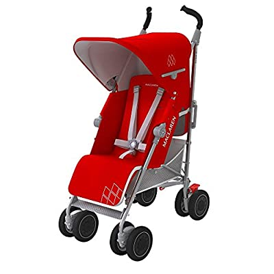 Maclaren Techno XT Stroller, Cardinal Red/Silver by Maclaren