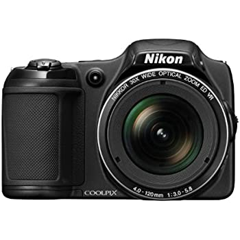 Nikon Coolpix L820 Digitalkamera (16 Megapixel, 30-fach opt. Zoom, 7,6 cm (2,7 Zoll) LCD-Monitor, Bildstabilisator) schwarz