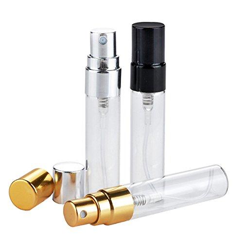 Bluelover 5Ml Bouteilles De Parfum en Verre Vide Rechargeable en Aluminium Atomiseur Conteneur Portable - Or