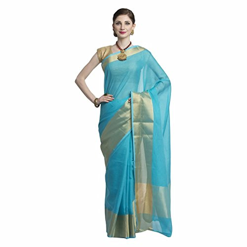 KOTA DORIA COTTON 6 INCH ZARI PLAIN SAREE