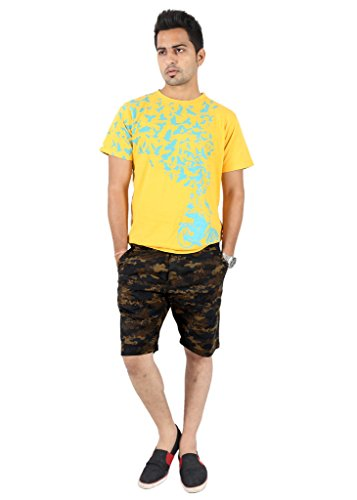 100-Cotton-Slim-Fit-Non-stretchable-Mens-CAMO-SHORTS-by-Uber-Urban