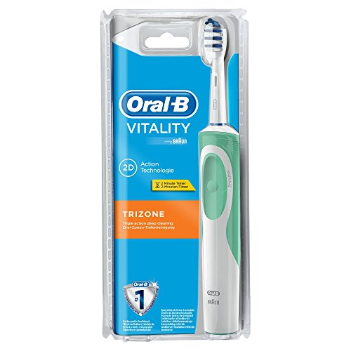 Braun Vitality TriZone - Cepillo de dientes eléctrico (Batería, 1 pieza(s)) Color blanco