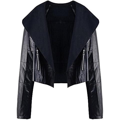FEITONG cappotto donna punk motociclista moto giacca