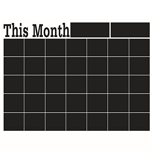 Diy 58 * 43cm Monats Tafel Wandaufkleber, Tafel entfernbare Vinyl Wandaufkleber Tafel Kalender Aufkleber Planer Wand