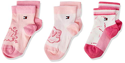 Tommy Hilfiger Unisex TH BABY REBEL GIFTBOX 3P Socken, Rosa (Pink Combo 174), 15-18 (erPack 3