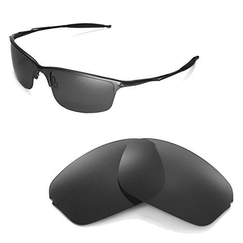 Walleva Ersatzgläser für Oakley Half Wire 2.0 Sonnenbrille - Mehrfache Optionen (Schwarz - polarisiert)