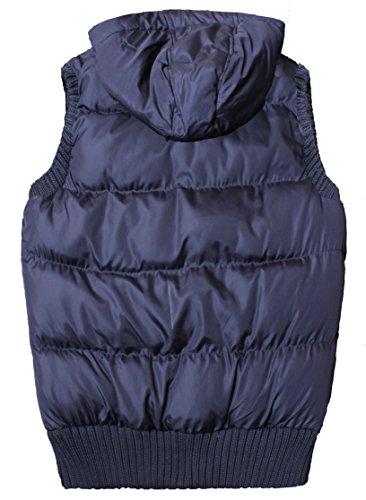 Le nuove signore donne senza maniche Cappuccio trapuntato Gilet Vest Bodywarmer Bassiera 8-16 Marina Militare