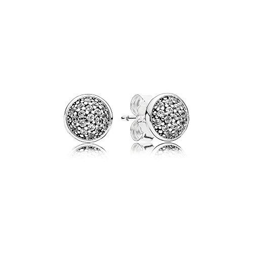 14 - Pandora 290726CZ–Pendientes de mujer de plata de ley 925,circonita blanca