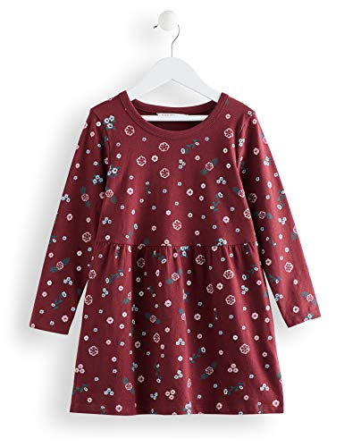RED WAGON Printed Flower Robe Fille, Multicolore (Multicolour), 128 (Taille Fabricant: 8)