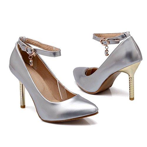 1to9 Filles Boucle Boucle En Caoutchouc Banquet Pompes-chaussures Argent