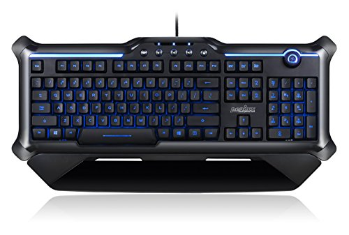 Perixx px-1200, tastiera retroilluminata Gaming–anti-ghosting 18Keys–rosso/blu/viola con illuminazione tasti–UK layout tastiera inglese