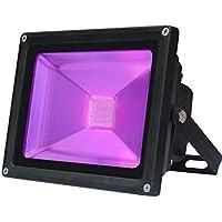 UV Luz negra LED, 10W LED decorativa violeta Etapa,IP65 Impermeable UV-A 395-400nm Luz de inundación de longitud para entretenimiento en interiores al aire libre Celebraciones festivas fluorescentes