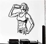 pegatinas de pared y murales Suplementos Deportivos Mujer Chica Culturismo