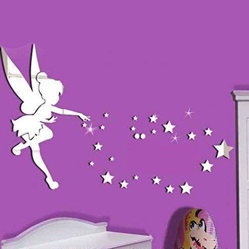 Walplus-Maison-Petite-fille-Art-mural-miroir-intrieur-de-rflexion