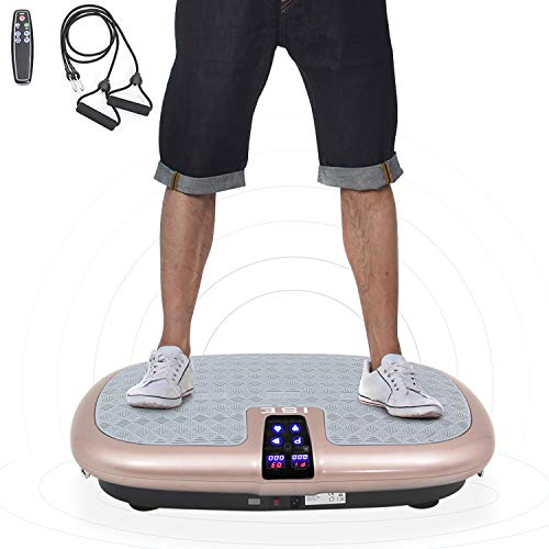 41rFdVlrGrL. SS500  - ISE Vibration Power Plate Trainer 1000 Watts Whole Body Slim Crazy Fit Massage