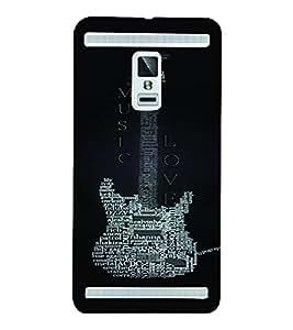 PrintVisa Music Guitar Quotes 3D Hard Polycarbonate Designer Back Case Cover for VivoX3S