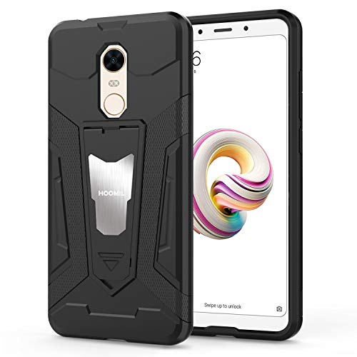 HOOMIL Resistente Funda para Xiaomi Redmi 5 Plus Silicona Carcasa Shock-Absorción Case Cover - Negro (HD3297)