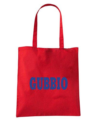 T-Shirtshock - Borsa Shopping WC0928 GUBBIO ITALIA CITTA STEMMA LOGO Rosso