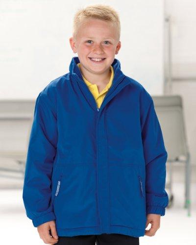 Jerzees Schoolgear de costura para abrigos reversibles para niños, color granate, tamaño 13-14