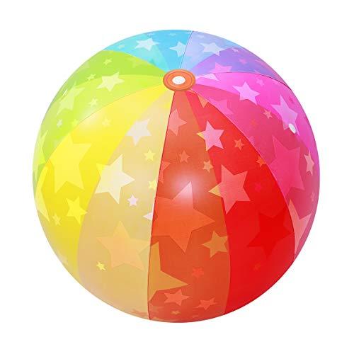 LIOOBO Sprinkler-Kugel-Regenbogen-Wasserball-aufblasbarer Sprinkler-Spaß im Freien für alle Größe 75x75 cm