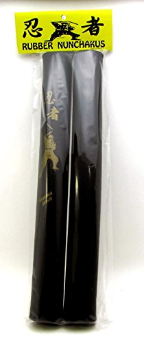Gummi Nunchaku für Kostüm Ninja Martial Arts Bruce Lee