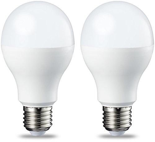 AmazonBasics Ampoule LED E27 A60 avec culot à vis, 14W (équivalent ampoule incandescente 100W), blanc chaud, dimmable - Lot de 2