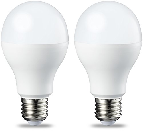 AmazonBasics Bombilla LED Esférica E27, 14W (equivalente a 100W), Blanco Cálido, Regulable - 2 unidades