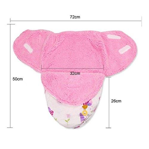baiyou Baby Wickeldecke Decke verstellbare Infant Cartoon Schlafsack Neugeborene Wickeln 0–12Monate
